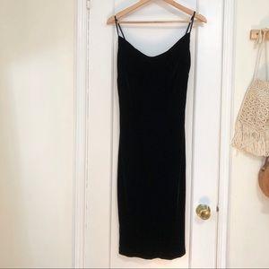 Banana Republic black velvet mini dress size 8
